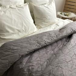 Стеганое полотно поплин Серый (остаток 0.80м) - фото 10698