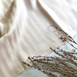 Страйп-сатин мерсеризованный светлый беж - фото 11563