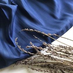 Страйп-сатин мерсеризованный индиго - фото 11596