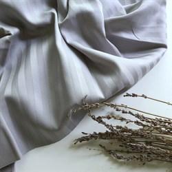 Страйп-сатин мерсеризованный серый - фото 11656