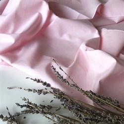 Поплин однотонный розовый (отрез 1 м) - фото 12613