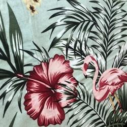 Фланель Фламинго на мятном - фото 12855