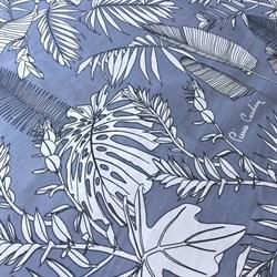 Ранфорс Тропик на голубом - фото 12867