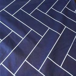 Ранфорс Геометрия на синем - фото 12885