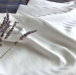 Страйп-сатин мерсеризованный белый (отрез 1.6 м) - фото 13547
