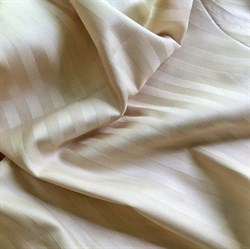 Страйп-сатин мерсеризованный бежевый (отрез 1.4 м) - фото 13776