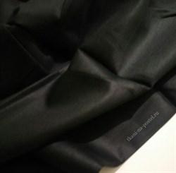 Сатин черный мерсеризованный - фото 6681