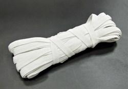 Резинка шириной 1 см белая (в уп. 10 м) - фото 8449