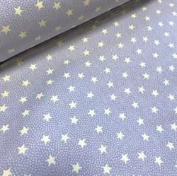 Поплин Звезды желтые на сером - фото 8730