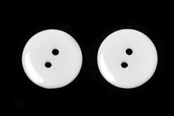 Пуговицы пластик на два прокола 15 мм белые - фото 8868