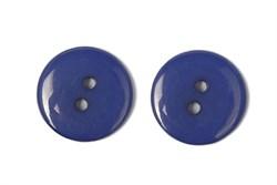 Пуговицы пластик на два прокола 15 мм синие - фото 9011