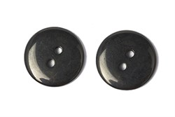 Пуговицы пластик на два прокола 15 мм черные - фото 9017