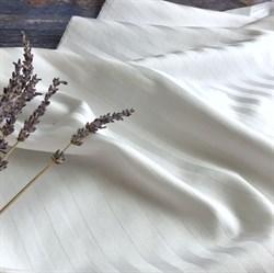 Страйп-сатин мерсеризованный белый - фото 9222