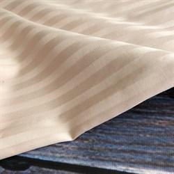 Страйп-сатин мерсеризованный латте - фото 9232
