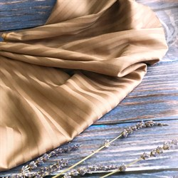 Страйп-сатин мерсеризованный кофейный - фото 9238