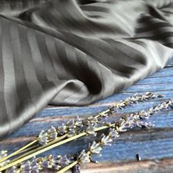 Страйп-сатин мерсеризованный антрацит (Турция) - фото 9248