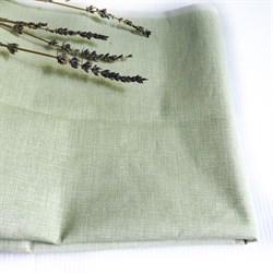 Поплин Рогожка пыльно-зеленая - фото 9270