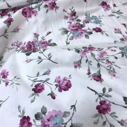 Фланель крупные цветы на белом - фото 9451