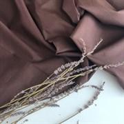Поплин однотонный коричневый