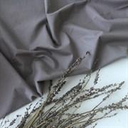 Поплин однотонный серый