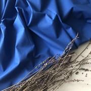 Поплин однотонный синий