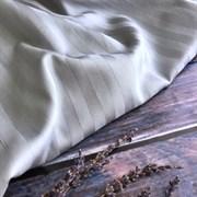 Страйп-сатин мерсеризованный светло-серый (отрез 1.38м)