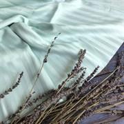 Страйп-сатин мерсеризованный мятный (отрез 1.2м)