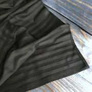 Страйп-сатин мерсеризованный черный (отрез 1.26м)