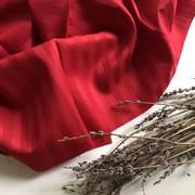 Страйп-сатин мерсеризованный красный