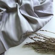 Страйп-сатин мерсеризованный серый