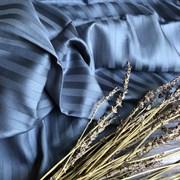 Страйп-сатин мерсеризованный джинсовый (отрез 3,17 м)