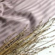 Страйп-сатин мерсеризованный бледно-лиловый