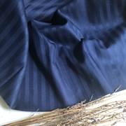 Страйп-сатин мерсеризованный темно-синий