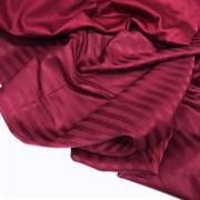 Страйп-сатин мерсеризованный бордо (отрез 0,77 м)