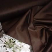 Сатин коричневый мерсеризованный (отрез 1,28 м)