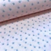Поплин Звезды серые на персиковом ( отрез 3,5 м)