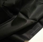 Сатин черный мерсеризованный (отрез 2,2 м)
