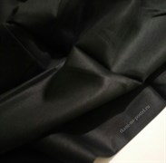 Сатин черный мерсеризованный (отрез 1,35 м)