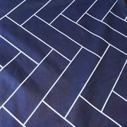 Ранфорс Геометрия на синем