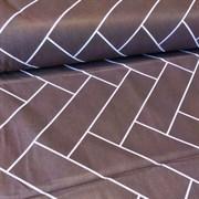 Ранфорс Геометрия на коричневом