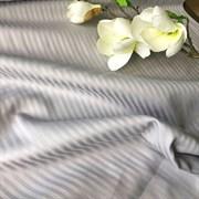 Страйп-сатин  светло-серый полоса 0,3 см