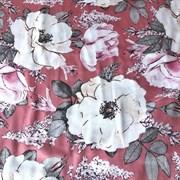 Сатин Акварель на розовом