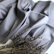 Сатин дымчато-серый мерсеризованный (отрез 1 м)