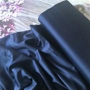 Сатин темно-синий мерсеризованный (отрез 1.1 м)