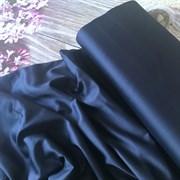 Сатин темно-синий мерсеризованный (отрез 0.56 м)