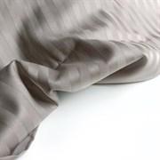 Страйп-сатин мерсеризованный кофейно-серый (отрез 3.1 м)
