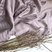 Страйп-сатин мерсеризованный бледно-лиловый (отрез 1.1  м)