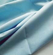 Поплин однотонный голубой