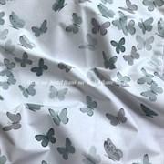 Поплин Бабочки на белом