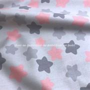 Поплин Пряники-звездочки на светло-сером